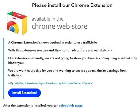 Trafficly extension chrome